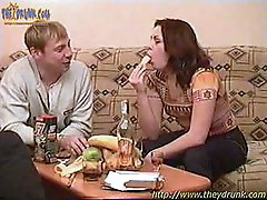 3 movies - Drunk threesome sex after vodka (home video)