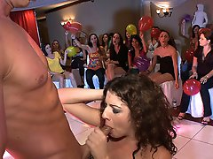 3 movies - Curly haired hottie sucks off a stripper