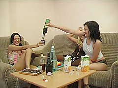 3 movies - The drunk ladies bring out the toys for pussy play