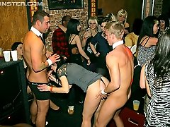 15 pictures - Lots of hotties sucking cock and getting fucked in this bar